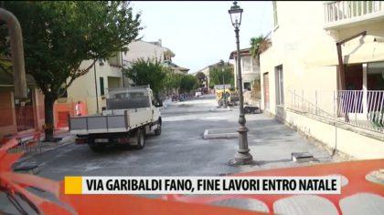 Fano, via Garibaldi: fine lavori entro Natale  – VIDEO