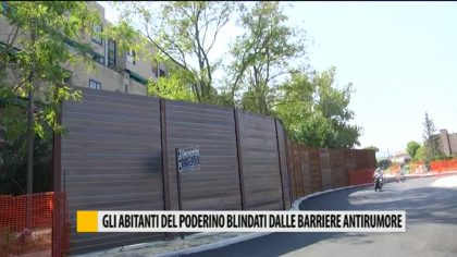 Fano, gli abitanti del Poderino blindati dalla barriere antirumore – VIDEO