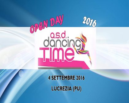 Open Day a.s.d Dancing Time 2016 Lucrezia