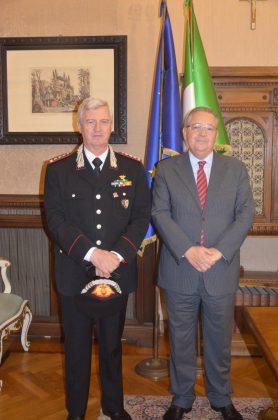 Pesaro, Il Gen. dei Carabinieri  Ciceri in visita alla Prefettura