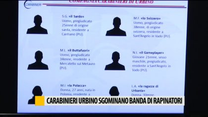 Sgominata dai Carabinieri di Urbino banda di rapinatori – VIDEO