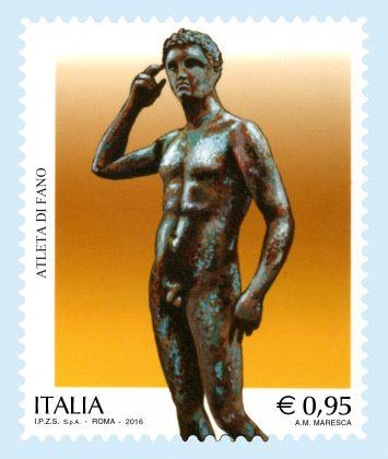 """Domani, negli uffici postali esce il francobollo """"Atleta di Fano"""""""