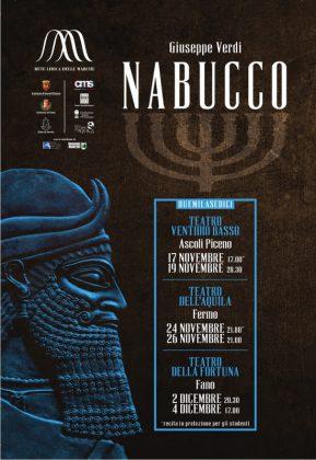 Fano, il 2 e 4 dicembre al Teatro della Fortuna arriva il Nabucco.