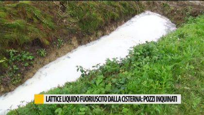 Lattice liquido fuoriuscito dalla cisterna: pozzi inquinati – VIDEO
