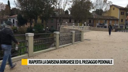 Fano, riaperta la Darsena Borghese ed il passaggio pedonale – VIDEO