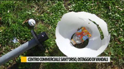 Il centro commerciale di Sant'Orso sotto ostaggio dei vandali – VIDEO