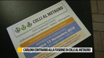 Carloni contrario alla fusione di 'Colli al Metauro' – VIDEO