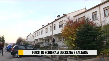 Sequenza di furti a Lucrezia e Calcinelli – VIDEO