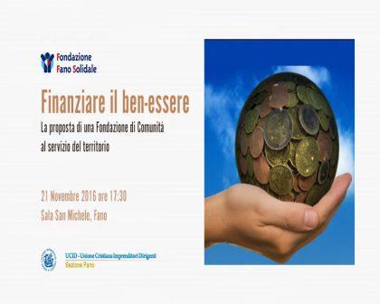 Finanziare il Benessere – Fano Solidale