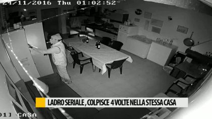 Ladro seriale, colpisce quattro volte nella stessa casa – GUARDA IL VIDEO