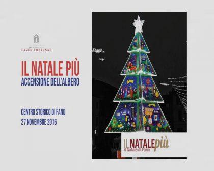Il Natale Piu' – L' accensione dell'albero PRO LOCO di Fano