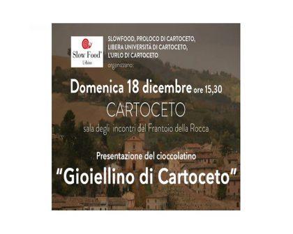 """Presentazione del Cioccolatino """"GIOIELLINO di Cartoceto"""""""