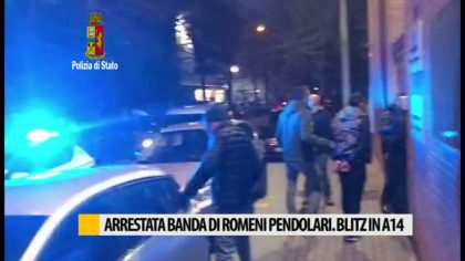 Arrestata banda di romeni pendolari. Blitz in A14 – VIDEO
