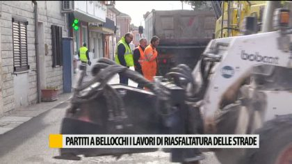 Partiti a Bellocchi i lavori di riasfaltatura delle strade