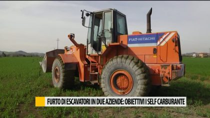 Furto di escavatori in due aziende: obbiettivi i self carburante – VIDEO