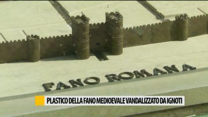 Plastico delle Fano medioevale rovinato da ignoti