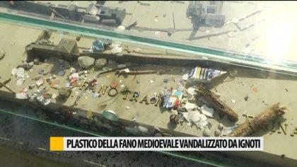 Plastico della Fano medievale rovinato da ignoti – VIDEO