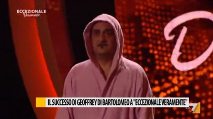 """Il successo di Geoffry di Bartolomeo a """"Eccezionale veramente"""""""