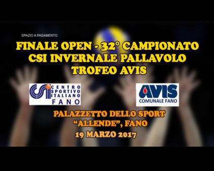 Finale volley trofeo Avis 2017