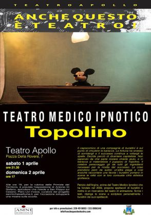 Teatro: a Mondavio arriva Topolino e i mastri burattinai.
