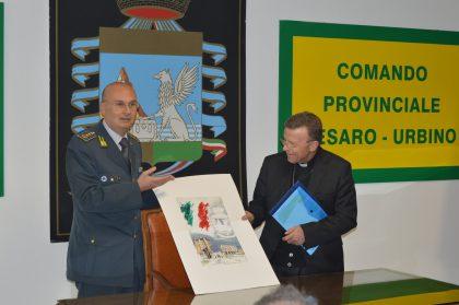 Mons. Armando Trasarti, visita il Comando Provinciale Guardia di Finanza.