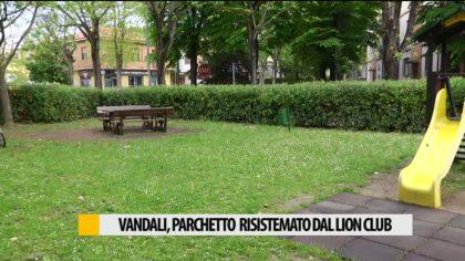 Vandali prendono di mira parco pubblico, Lion Club sistema i danni – VIDEO