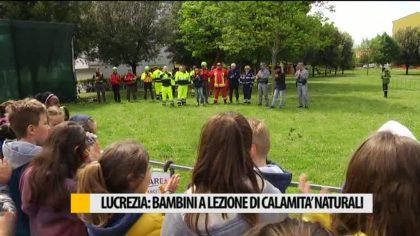 Lucrezia di Cartoceto, bambini a lezione di calamità naturali – VIDEO