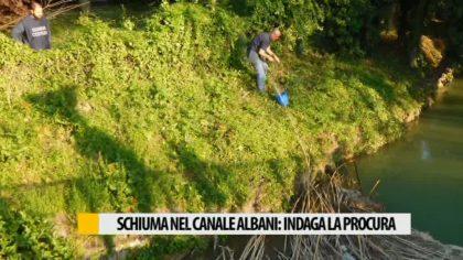 Schiuma nel canale Albani, indaga la procura – VIDEO