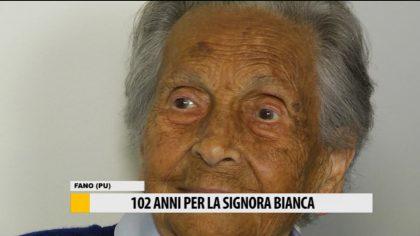 102 anni per la signora Bianca