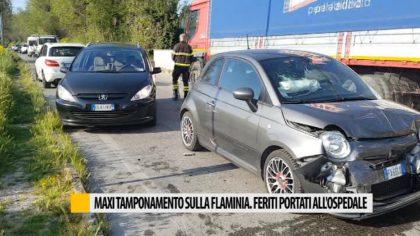 Maxi tamponamento sulla Flaminia, feriti portati all'ospedale