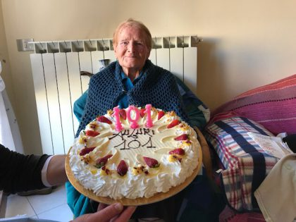 Festa per i 101 anni della signora Palma di Pontemurello