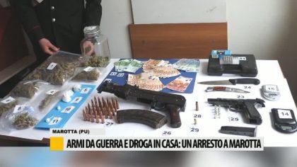 Armi da guerra e droga in casa, un arresto a Marotta