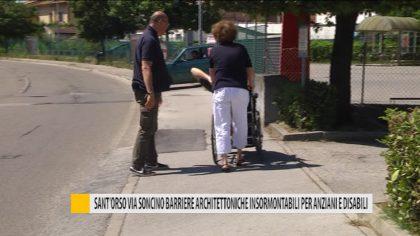 Sant'orso, via Soncino barriere architettoniche insormontabili per anziani e disabili – Video