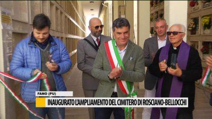 Inaugurato l'ampliamento del cimitero Rosciano-Bellocchi -VIDEO