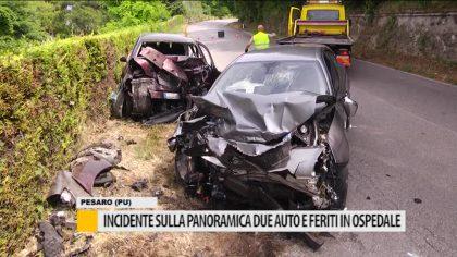 Incidente sulla panoramica, due auto e feriti all'ospedale