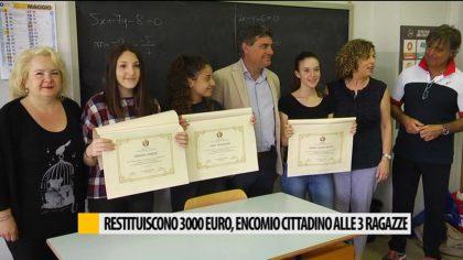 Restituiscono 3000 euro, encomio cittadino alle 3 ragazze