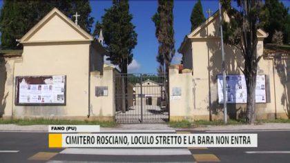 Cimitero Rosciano, loculo stretto e la bara non entra