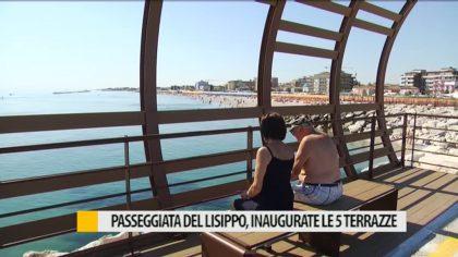 Inaugurate le terrazze alla Passeggiata del Lisippo di Fano – VIDEO