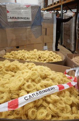 I Carabinieri Forestali sequestrano 45 tonnellate di pasta biologica