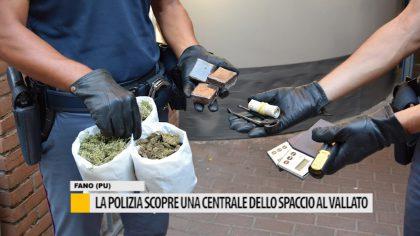 La polizia scopre una centrale dello spaccio al vallato