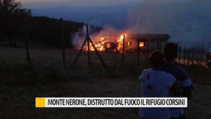 Monte Nerone, distrutto dal fuoco il  rifugio Corsini