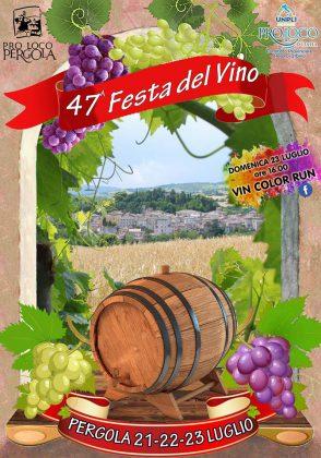 Pergola, 47esima Festa del Vino: degustazioni, musica, eventi