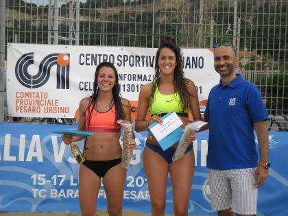 Al torneo amatoriale nazionale trionfano i fanesi Luca Mancinelli e Nicolas Sabbatini e le pesaresi Noemi Giusti e Ilaria Ottaviani