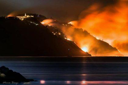 Incendio sul San Bartolo. Il video reportage di Fano TV