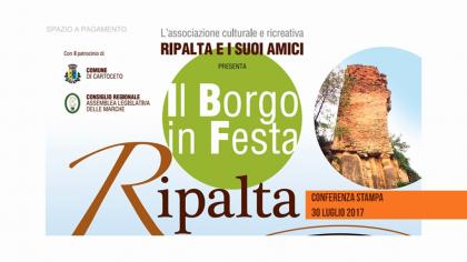 """Conferenza """"Il Borgo in Festa"""" Ripalta (30 luglio 2017)"""
