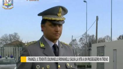 Finanza, il tenente colonnello Romanelli salva la vita a un passeggero in treno – VIDEO
