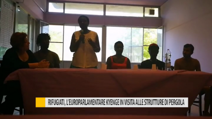 Rifugiati, l'europarlamentare Kyenge in visita alle strutture di Pergola  – VIDEO