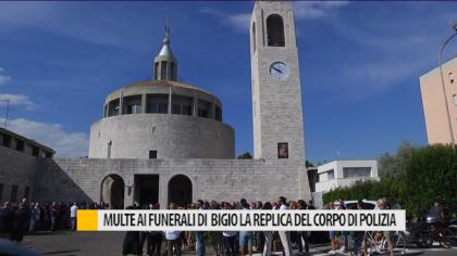 Multe ai funerali di Bigio. La replica del corpo di Polizia – VIDEO