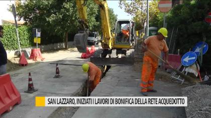 San Lazzaro iniziati i lavori di bonifica dell'acquedotto – VIDEO