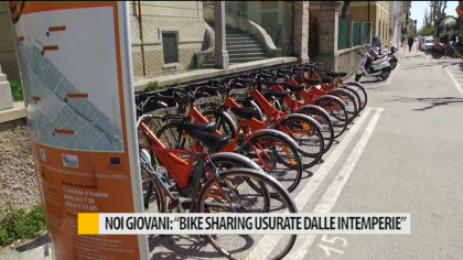 "Noi Giovani: ""Bike sharing usurate dalle intemperie"" – VIDEO"